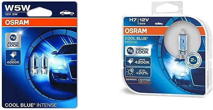 Osram Cool Blue Intense Kennzeichenbeleuchtung W5w 2825hcbi 02b Doppelblister Cool Blue Intense H7 Halogen Scheinwerferlampe 64210cbi Hcb Duobox Auto