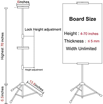 Guodasitansen Sign Holder Signs Display Stand-Suitable for Most Sizes of Posters//Upright//Double-Sided Display//Height Adjustable//Multipurpose//Black//White Color : White