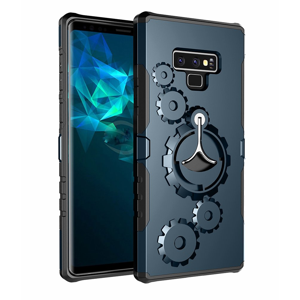 ATRANING Samsung Galaxy Note 9 Case,Built-in Kickstand Ring Sport Armband Shockproof Hard Cover for Note 9 (Cyan-Blue)