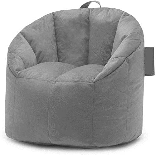 TRP Premium Smooth Fabric Furniture Gray Bean Bag Chair Lounger Double Stitched