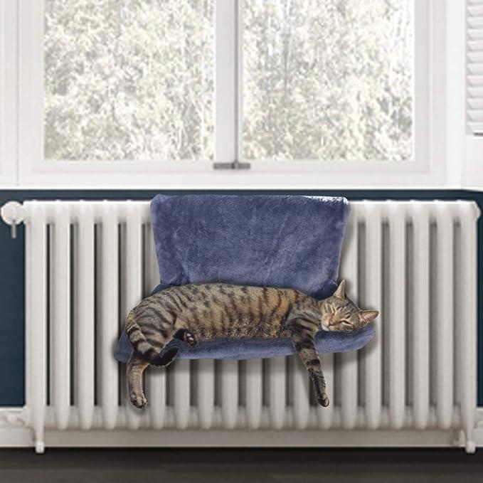 PetPäl Cama radiador Cama acogedora para Gatos para la calefacción   La Cama Gatos con Hueco de Cama para el Gato   Hamaca calefactora - El Lugar cálido ...