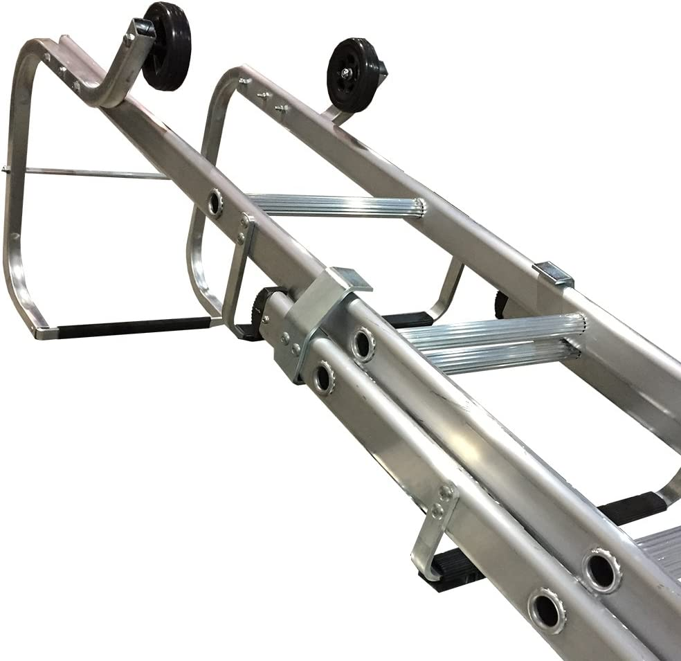 Tb Davies Trade 4 60m Double Section Aluminium Roof Extension Ladder Double Section Ladder Fitted With Bearer Bars Wall Wheels Amazon Co Uk Diy Tools