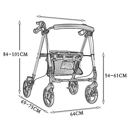 Amazon.com: ZXXX - Andador con ruedas y asa ajustable en ...