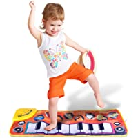 guoYL26sx Baby Toys 8 Notes Foldable Touch Play Keyboard Musical Carpet Mat Educational Kids Toy