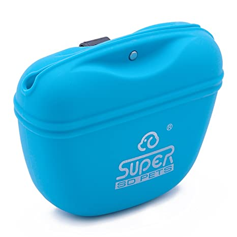 Super Design Bolsa de Silicona para adiestramiento de Perros Gatos Bolsa Manos Libres
