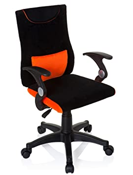 HJH Office Kiddy Pro Al 670480 Silla de oficina Niño Multicolor (Negro/Naranja) 40x50x97 cm: Amazon.es: Hogar