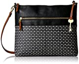 Fossil Fiona Large Crossbody, Black Stripe