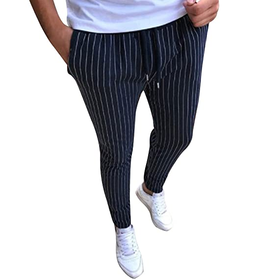Amazon.com: LOVOZO Mens Pants, Sport Jogging Striped ...