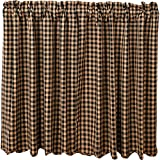 Cheap VHC Brands 20205 Black Check Scalloped Tier Set of 2 L36xW36