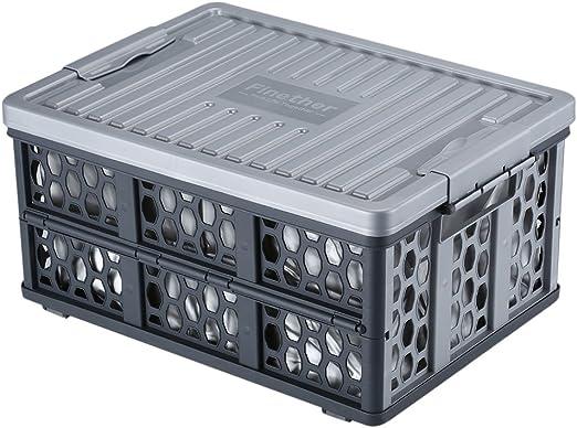 Finether – Caja Box – Caja Plegable Multifuncional Caja con Tapa y ...