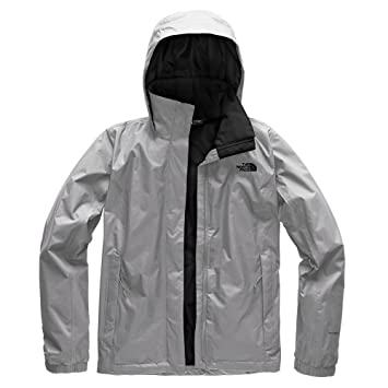 North Face W Resolve 2 JKT Chaqueta, Mujer, Mid Grey/TNF Black,