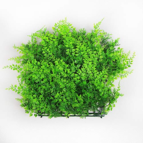 ULAND Artificial Hedges Panels, Outdoor Greenery Ivy Privacy Fence Screening, Home Garden Wedding Decoration, Pack of 4pcs 10''x10'' by ULAND