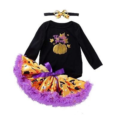 MAYOGO Halloween Disfraz Conjunto de Niña Pelele Manga Larga y ...