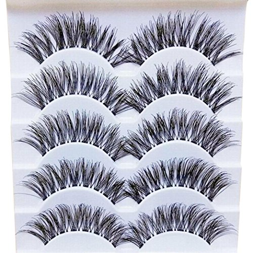 NewKelly Gracious Makeup Handmade 5Pairs Natural Long False Eyelashes Extension Exquisite