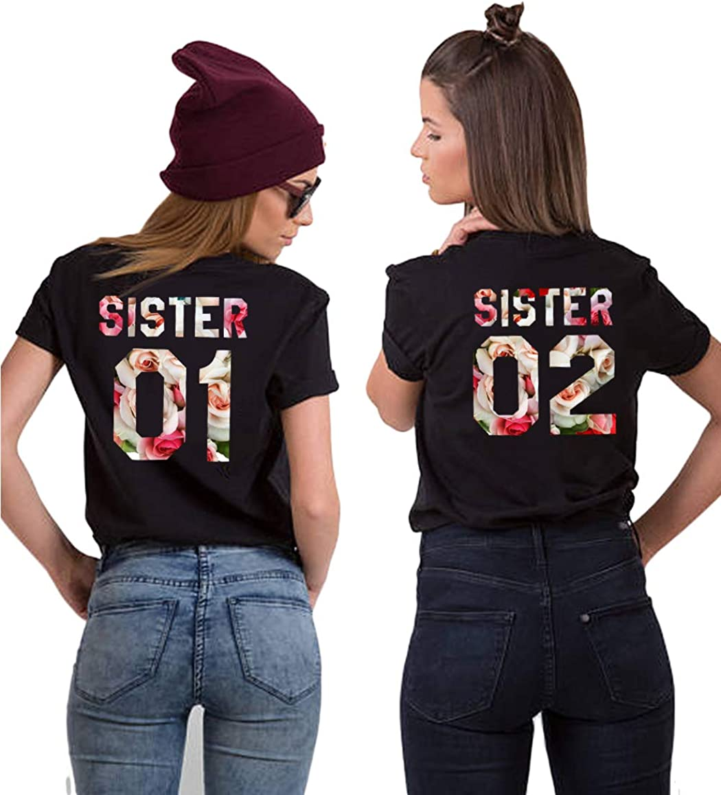 Soul Couple Best Friend Shirts for Two Matching BFF Shirts Sister T-Shirts for Women 8 Color
