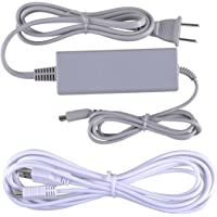 UCEC Wall Power Supply AC Adapter Charging Cable+ USB Charging Cord Charger Kit for Nintendo Wii U Gamepad