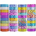 40 Ct. Yanqueens 3.5M Tape Set Glitter Masking Tape