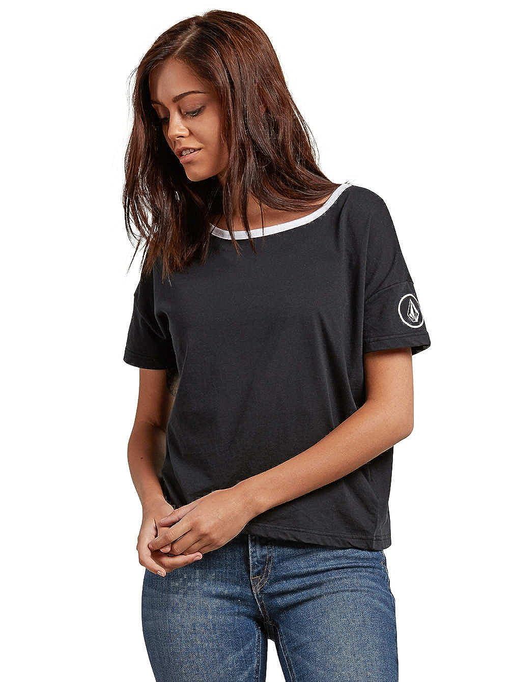 TALLA FR : S (Taille Fabricant : S). Volcom One of Each tee–Camiseta de Manga Corta para Mujer, Mujer, B3531850, Negro