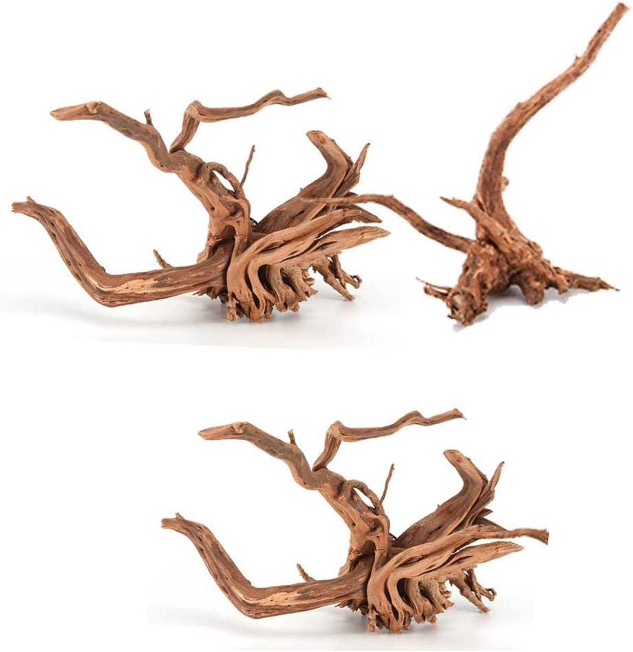 Tfwadmx Aquarium Driftwood, Spider Wood Sinkable Driftwood for Fish Tank Decorations Natural Branches for Reptile