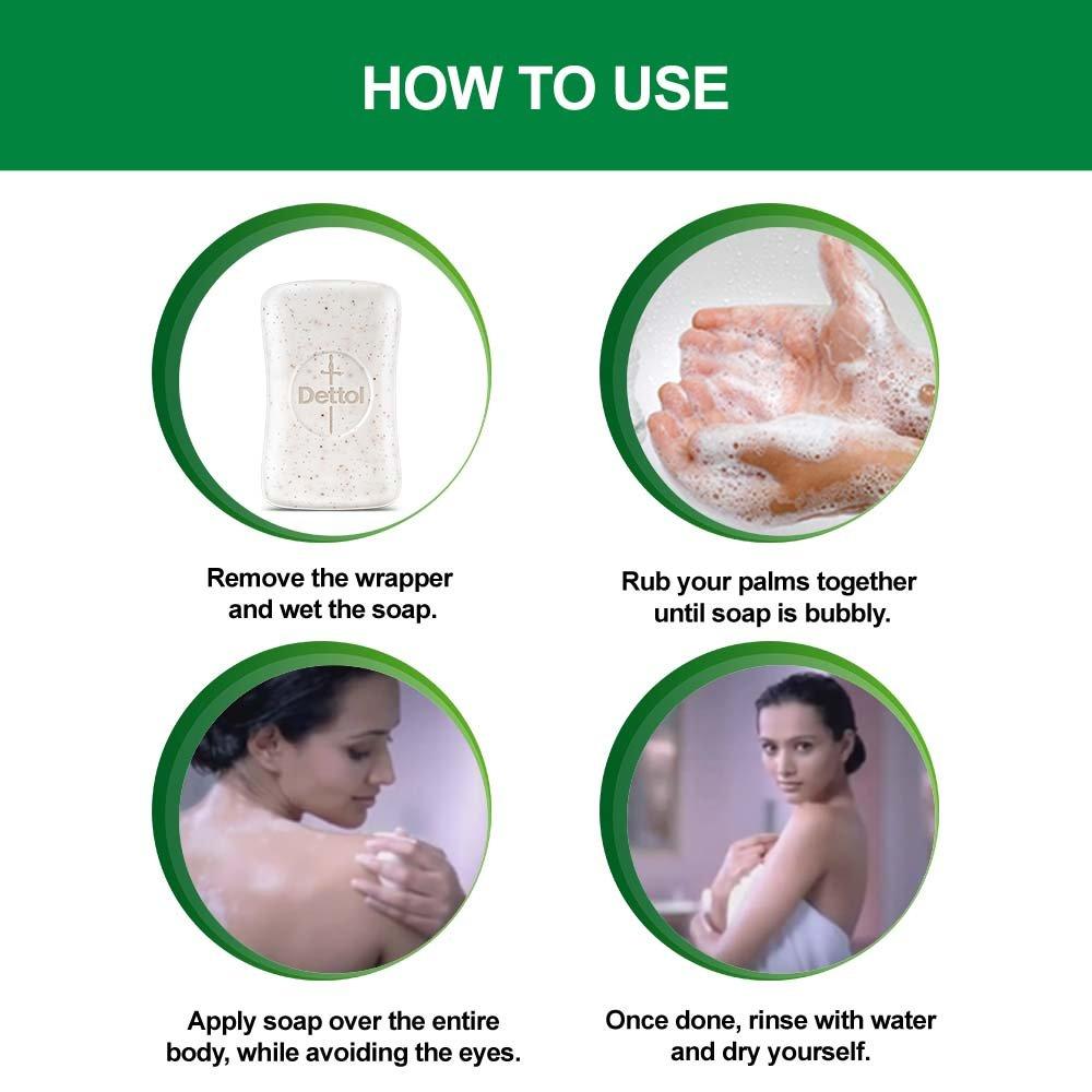 Dettol Deep Cleanse Soap 75g Buy 3 Get 1 Free Bar Cool 105 Gr 5 Pcs