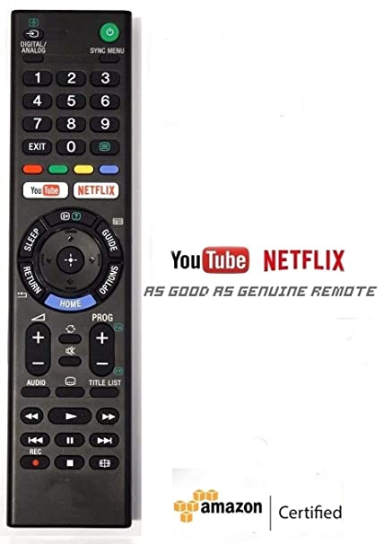 Universal Youtube Netflix Smart Tv Remote for Sony Led/Lcd/Bravia Tv (Works  With all SONY Models) No Setup Required