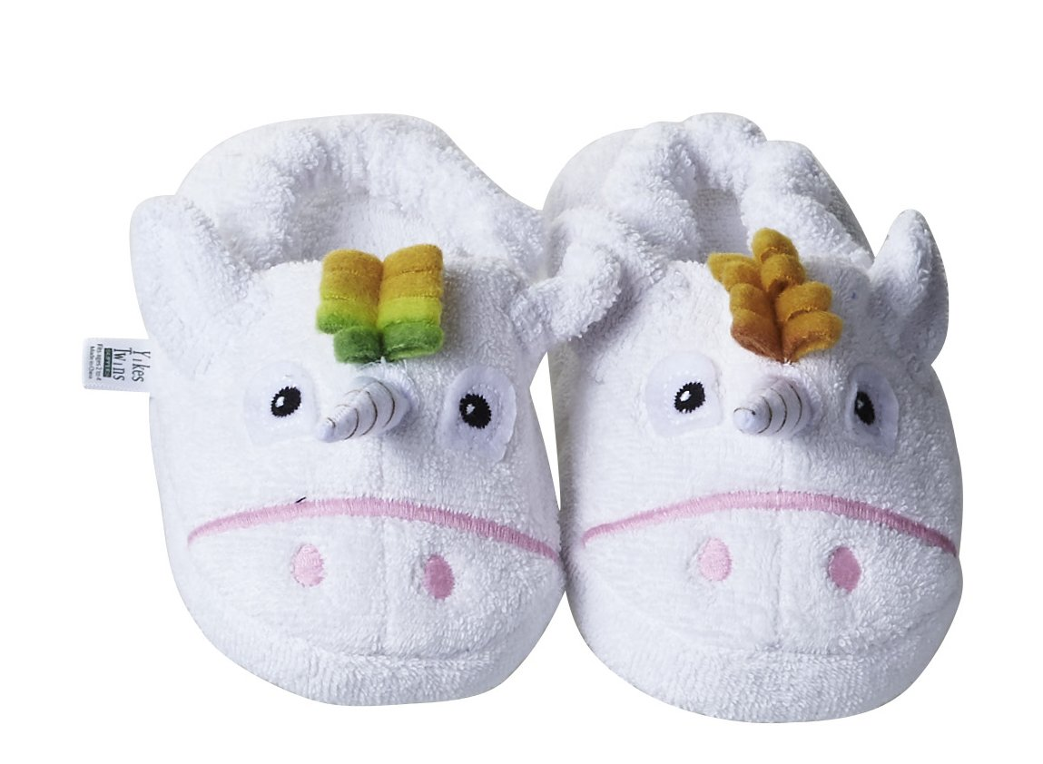 Yikes Twins Toddler Slippers - Unicorn (Ages 2-4)