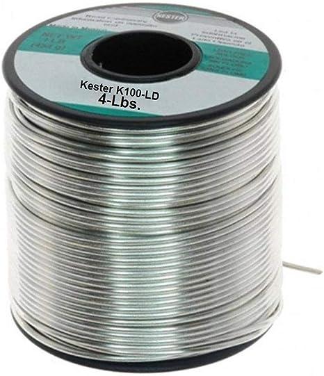 "4lbs Kester Solder Lead Free .050/"" K100LD Eutectic Tin//Copper Rosin 24-9574-1404"