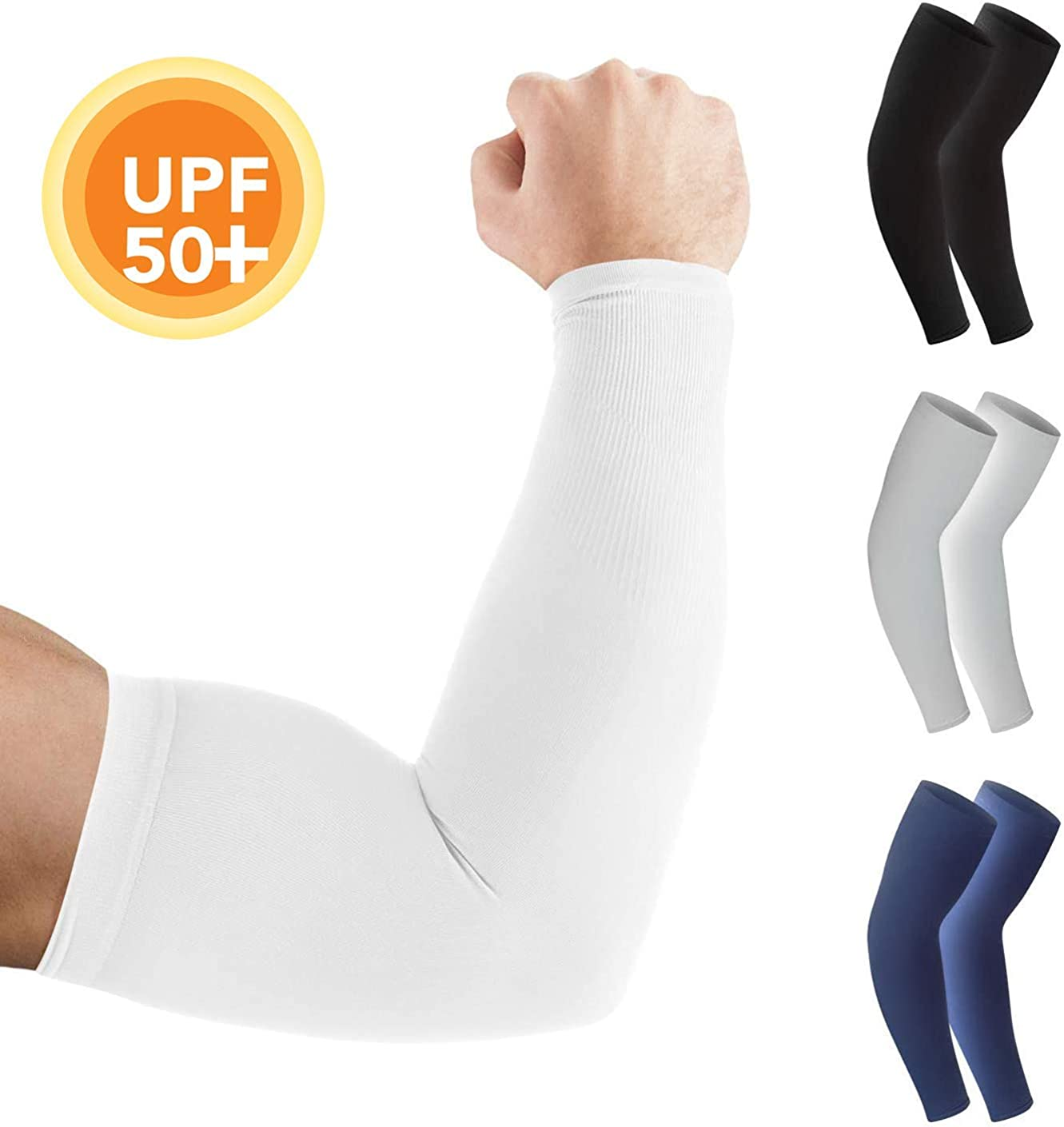 Arm Sleeves for Men and Women – Tattoo Cover Up, Sun Protection - Cooling UPF 50 Compression - Basketball, Running