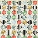 コスモテキスタイル 綿キャンバス生地 ノルディックパターン 全3種 50cm単位 布 (サークル)