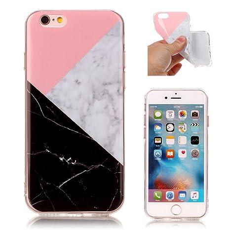 coque iphone 6 marbre noir silicone