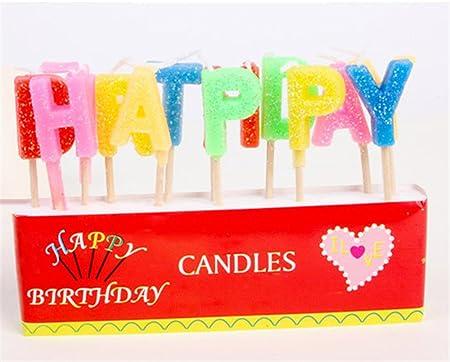 Velas de cumpleaños feliz cumpleaños de polvo de oro Inglés ...