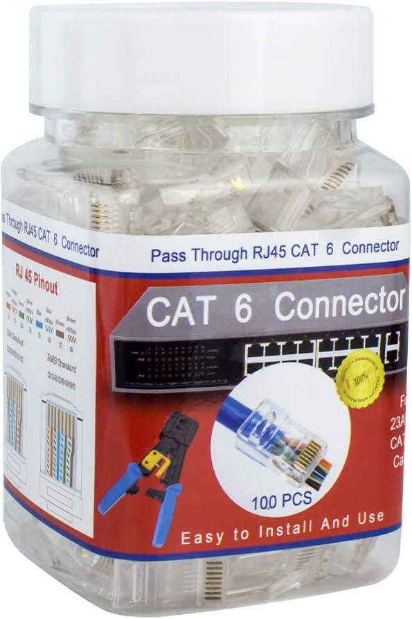 100Pcs CENTROPOWER Cat5e Connectors Cat5 Connectors RJ45 Ends Ethernet Cable Crimp Connectors RJ45 Connectors