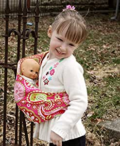 Snuggy Baby Child's Doll Sling Baby Doll Carrier -Pink Paisley