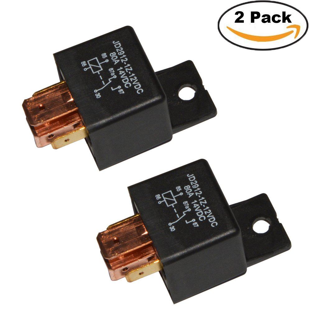Amazon.com: Ehdis [2 Pack] 5-Pin JD2912-1Z-12VDC 80A 14VDC SPDT ...