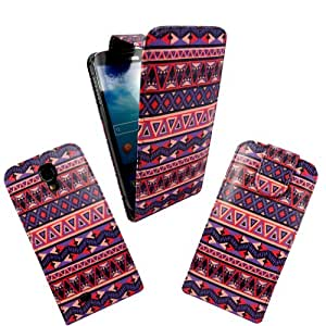 For Samsung Galaxy S4 i9500 Various New Designs Stylish Printed PU Leather Magnetic Flip Case Cover+Screen Protector(Aztec Vintage Tribal Style 1)