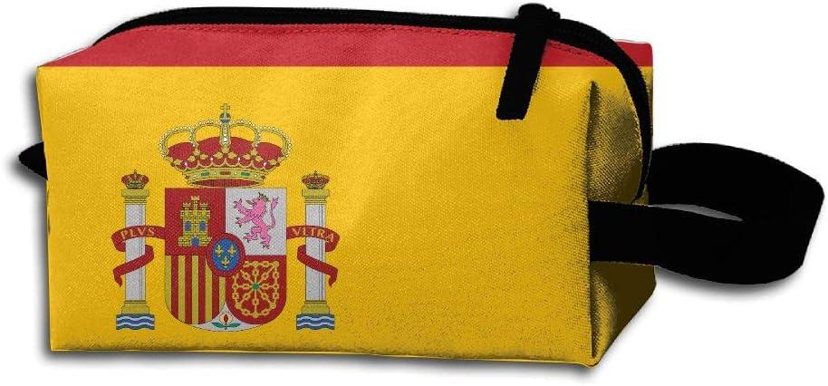 LKJHG Bandera Española Mujer Neceser de Viaje Niñas Oxford Neceser Bolsas Divertidas Portátil Colgantes Organizador de Maquillaje Estuche: Amazon.es: Hogar