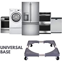 Multifunctional Movable Washing Machine And Refrigerator Stand Black/Silver