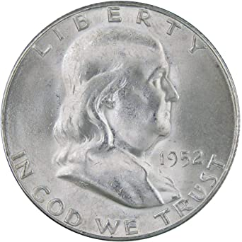 1952-S 50c Franklin Silver Half Dollar AU About Uncirculated