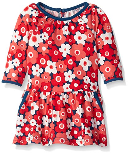 Marmellata Baby-Girls Cherry Blossom Knit Dress, Multi, 24 Months