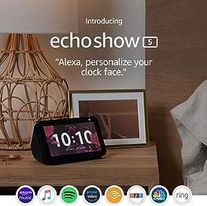 Certified Refurbished Echo Show 5 – Compact smart display with Alexa - Charcoal