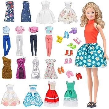 E-TING Lote 15 artículos=5 conjuntos aleatorio Faldas Vestir Vestidos Ropa + 10