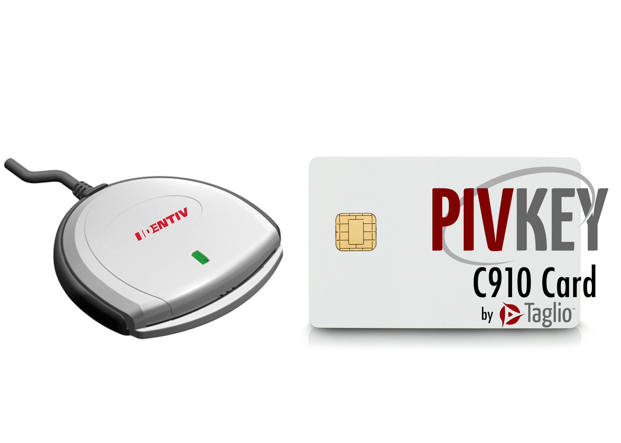Identiv SCR3310V2 USB Smart Card Reader Bundle with PIVKey C910 Smart Card by Identiv