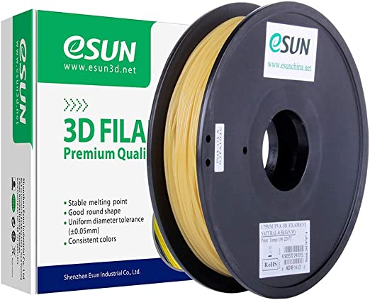 eSUN水溶性PVA3Dプリンターフィラメント、PVA寸法精度+/-0.05mm、2.85mm径3Dプリンター用正味量0.5KG(1.1LBS)スプール造形材料PVA樹脂材料(ナチュラル)