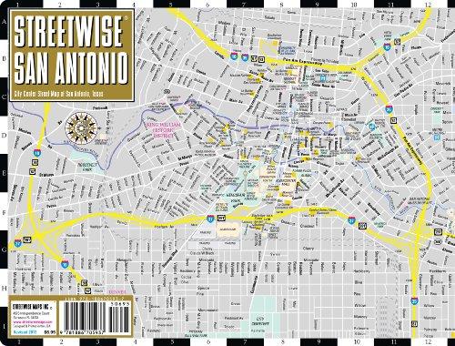 Streetwise San Antonio Map - Laminated City Center Street ...