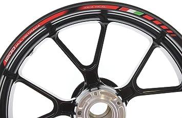 Impressiata Ducati Multistrada 1200 Enduro Motorrad Felgenrandaufkleber Specialgp Rot Komplettset Aufkleber Sticker Auto