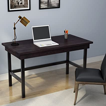 Tribesigns Computer Desk With Pull Out Keyboard Tray, Industrial Style 55u201d  Large Writing