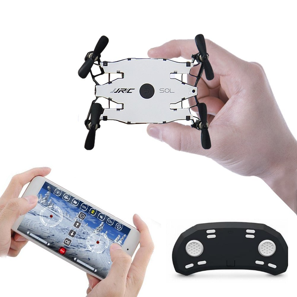 Mini RC Drone JJRC H49 SOL Foldable Ultrathin Wifi FPV Quadcopter Drone with 720p HD Camera,Dual Remote Control Mode Wifi Real-Time Transmission