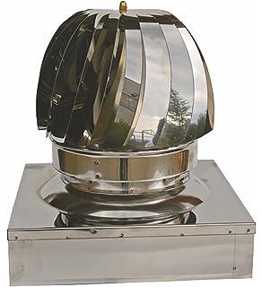Einside AISI 304 - Extractor Eólico de Acero Inoxidable para Chimeneas, 22 x 22 cm: Amazon.es: Bricolaje y herramientas