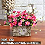 LighSCH-Artificial-Flowers-Fake-Bouquet-Rose-Plastic-Flower-Baskets-Red-Begonia-Flower