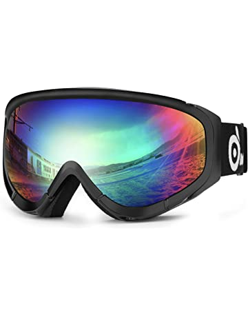 370adc7c10 Odoland Snow Ski Goggles S2 Double Lens Anti-Fog Windproof UV400 Eyewear  for Adult and